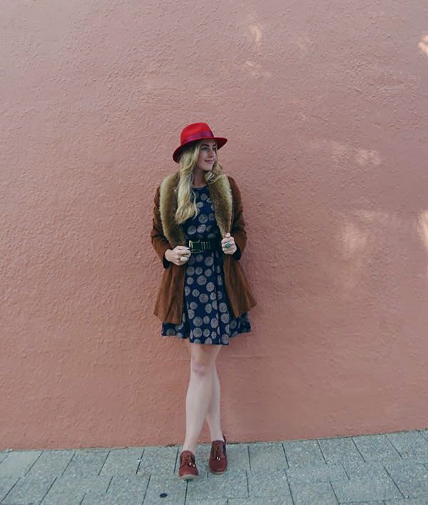 Dress and vintage jacket from Anglicare Belmont