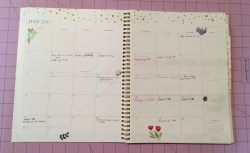 Monthly spreads are a great place to decorate!
