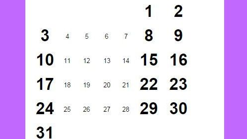 silver pockets full - Five Saturdays, Five Sundays, Five Fridays. only every 823 years