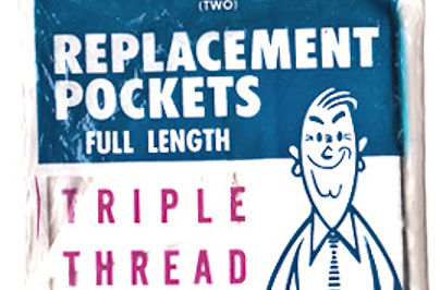 1962 sew-in replacement pockets