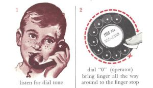 How to use a telephone, old school course