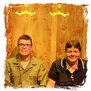 John and Teresa on Royal Throne
