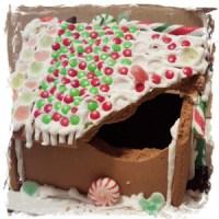 Gingerbread house damage