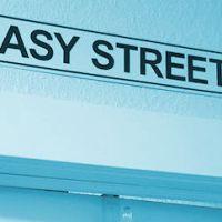 Easy Street tin sign