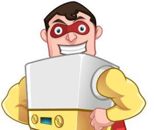 Gas Furnace Hero Mascot