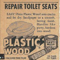 REPAID TOILET SEATS with PLASTIC WOOD