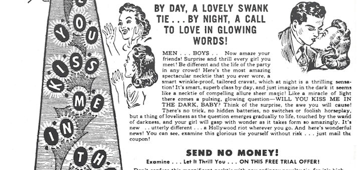 Ad for Kiss me in the dark tie