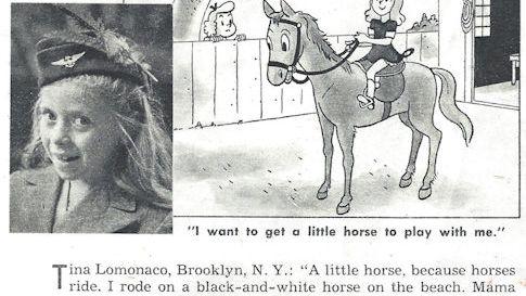 Little girl wants a horse (Postwar magazine feature)