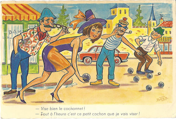 French Bob Vivants playing Lawn Bowling but in the street.