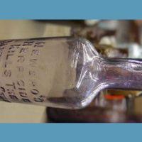 Cure for dandruff germ bottle 1930s