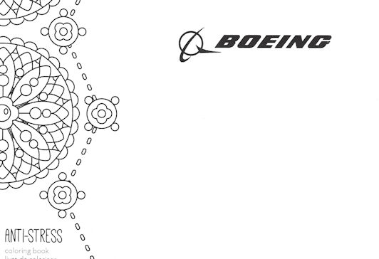 Boeing's stress relief coloring book