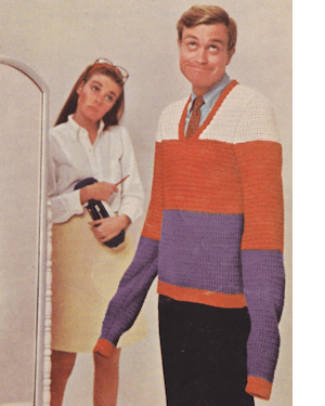 1960's beginner's crochet pattern cover pic hilarious