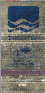 Mare Island Federal Credit Union matchbook, 1960's