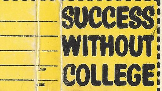 Success without college correspondence school matchbook