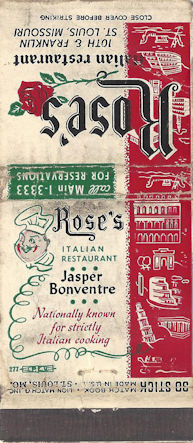Rose's Italian Restaurant in St. Louis