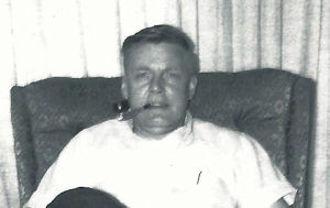 My dad in his recliner, about 1969