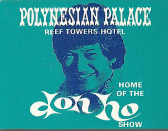 Polynesian Palace Don Ho show matchbook