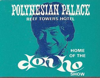 Polynesian Palace Don Ho show matchbook