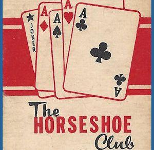 Horseshoe Club cardroom matchbook