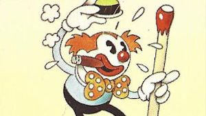 Clown with giant match