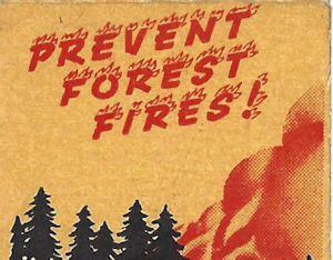 Matchbook cover, Prevent Forest Fires
