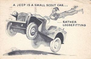 WWII humor postcard