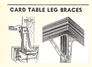 Card Table Braces