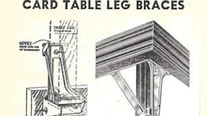 Card Table Braces