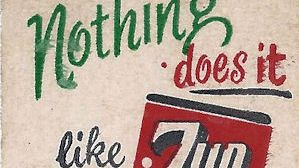 Nothing Does It Like 7-up matchbook cover