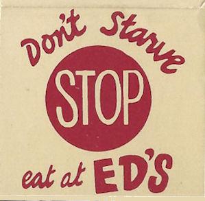 Eat at Ed's matchbook