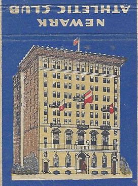 Athletic Club matchbook cover