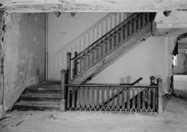 Stairs inside old Newark Athletic Club building