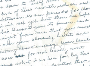 Letter from mean sister 1939