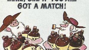 ZEKE hillbilly cartoon matchbook fun