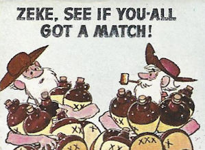 ZEKE hillbilly cartoon matchbook fun