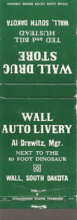 Wall Drug matchbook cover