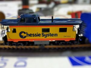 HO scale Chessie rolling stock