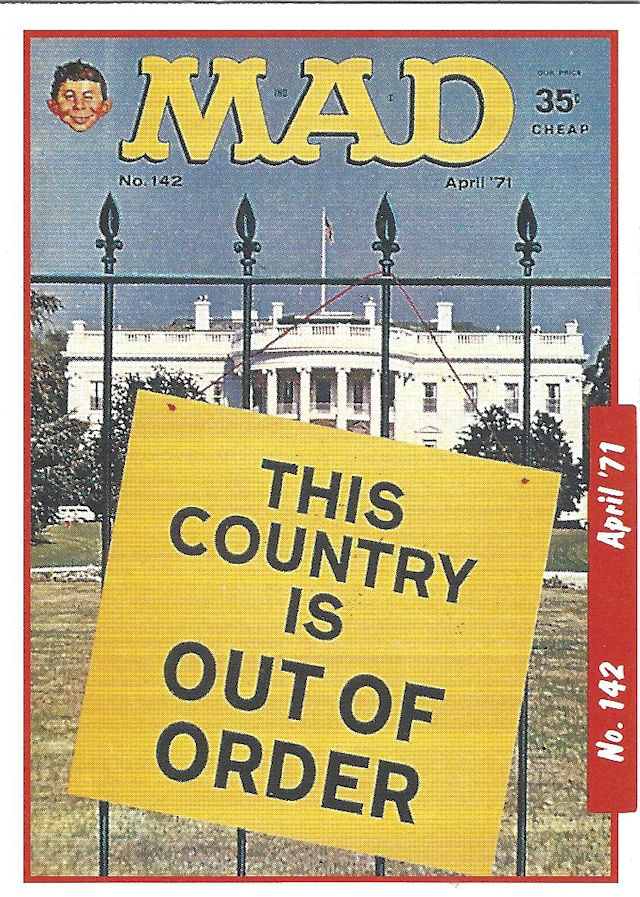 Mad magazine 1971 cover; This Country is Out of Order