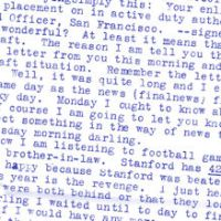 Wartime letter to girlfriend in Chicago