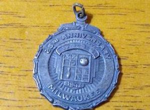 WIBC winner's medallion