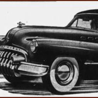 Old Buick with too much in the trunk
