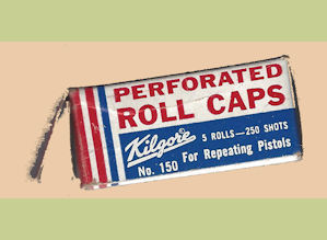 Kilgore perforated 20 grain roll caps