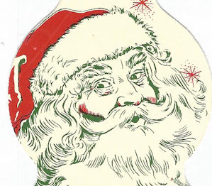Matchbook picture of unkempt Santa Claus