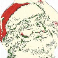 Matchbook picture of unkempt Santa Claus