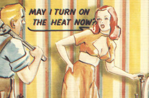 Turn on the heat postcard