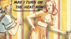 Turn on the heat postcard