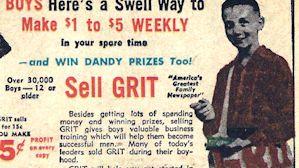 GRIT magazine sales ad