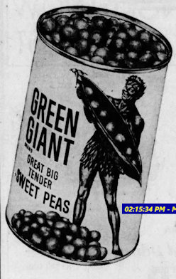 1960's Green Giant canned sweet peas