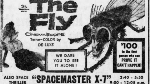 Movie ad for THE FLY 1958