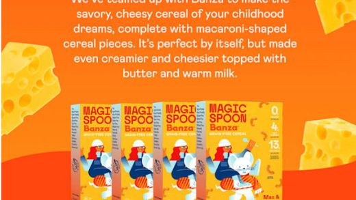 Magic Spoon Mac & Cheese cereal